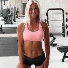pretty girl at gym