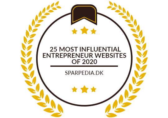 Banners for 25 Most Influential Entrepreneur Websites of 2020